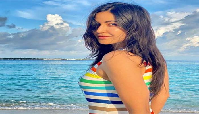 Katrina Kaif is a true blue beach beauty as she soaks up the sun while shooting in Maldives