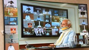 PM Modi holds virtual meeting with CMs, talks about Corona Vaccine