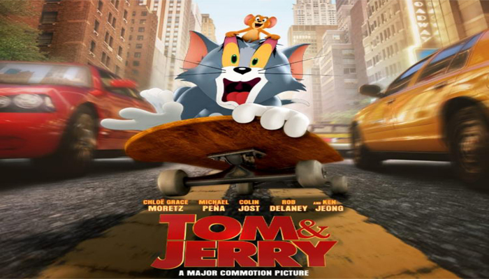 Tom & Jerry Poster: Duo wade through the busy streets of New York
