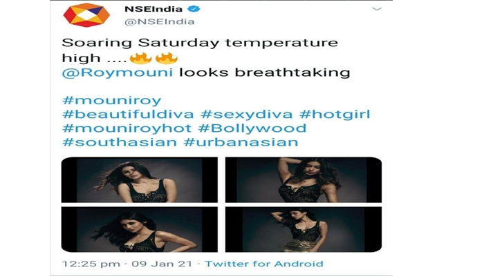 It's raining memes after NSE India tweets pictures of Mouni Roy