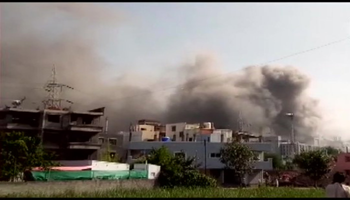 Fire breaks out at under construction building at Serum Institute in Pune