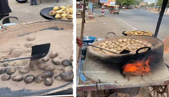 'Aloo in baloo' goes VIRAL as UP man roasts potatoes in sand