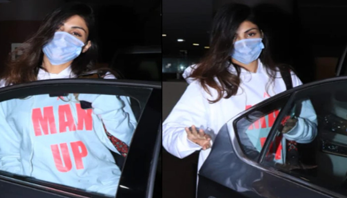 Rhea Chakraborty wears a Hoodie that says Man Up; Pics went Viral!