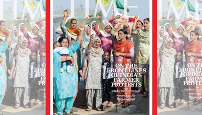 TIME Magazine dedicates its Cover to Women of the Farmers' Protest