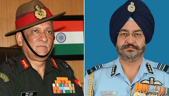 Bipin Rawat, Birender Singh are new army and air force chiefs