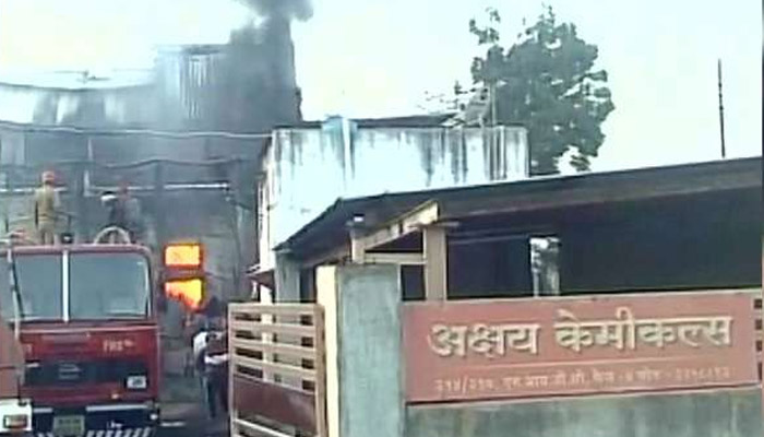 Fire breaks out at chemical factory in Maharashtras  Akola district