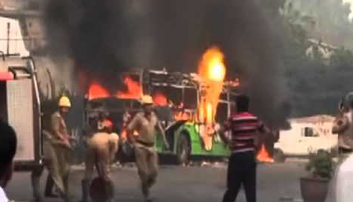 Rahim followers torch bus in Ghaziabad; high alert sounded in UP