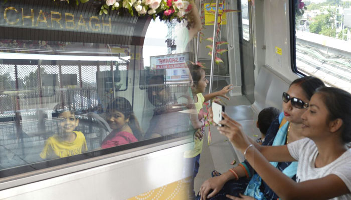 Lucknowites enjoy the first Metro ride in the city   check snaps