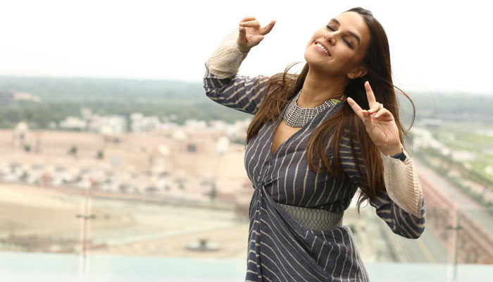 Playful Neha Dhupia poses for the shutterbugs in lucknow