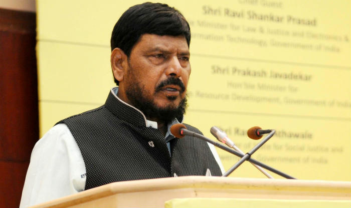 Give quota to upper castes, says MoS Ramdas Athawale