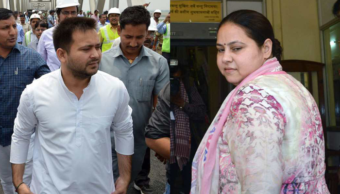 I-T dept issues final order to attach Tejashwi, Misas properties