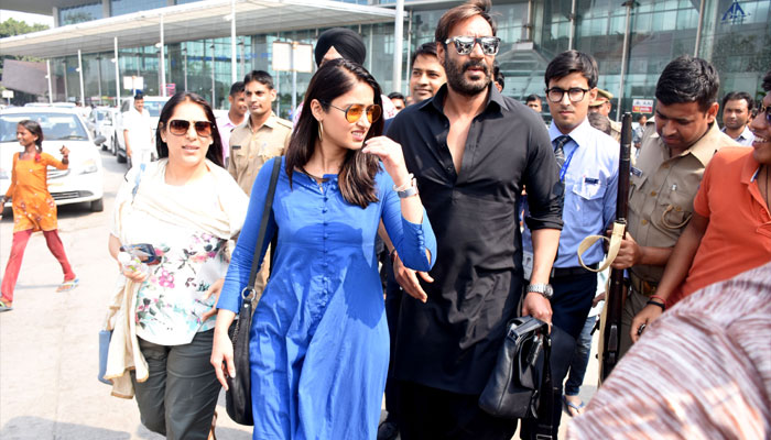 Ajay Devgn and Ileana Dcruz spotted in Lucknow for shoot of Red