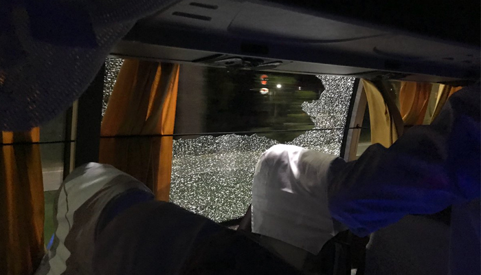 Stone thrown at Australian team bus, Finch finds it scary