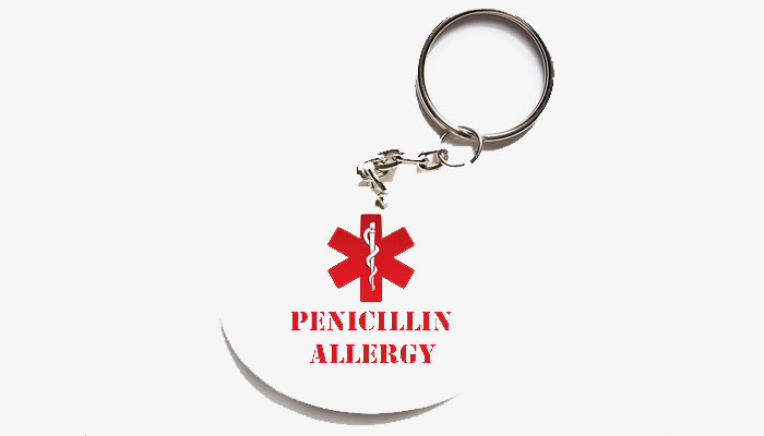 ATTENTION! Penicillin allergy may increase risk of infections