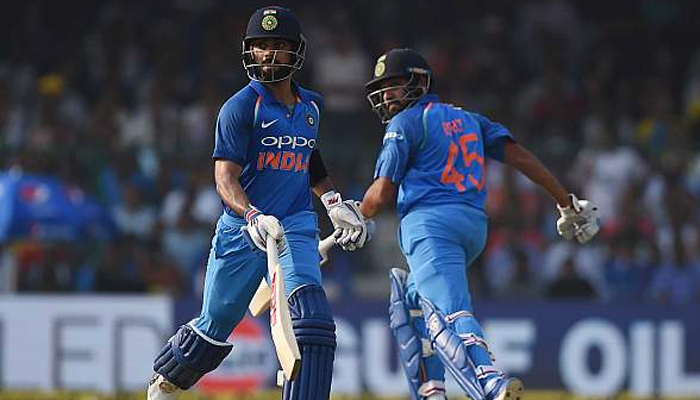 Rohit-Kohli tons pose uphill task for Kiwis, India posts 337