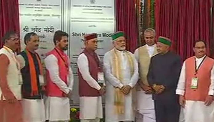 PM Modi lays foundation stone for AIIMS in Himachal