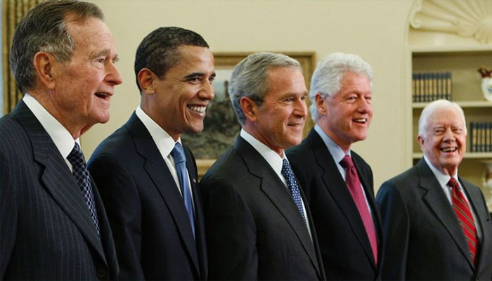 Five former US Presidents attend hurricane relief concert