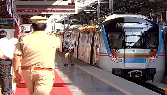PM Narendra Modi launches first phase of Hyderabad Metro