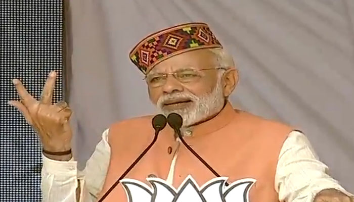 Congress is suffering the fruit of its sins: PM Modi in Himachal