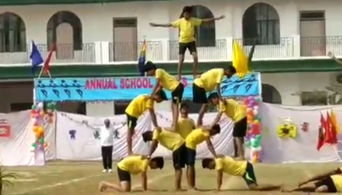 Pomp and show at 20th sports day of St. Johns Academy