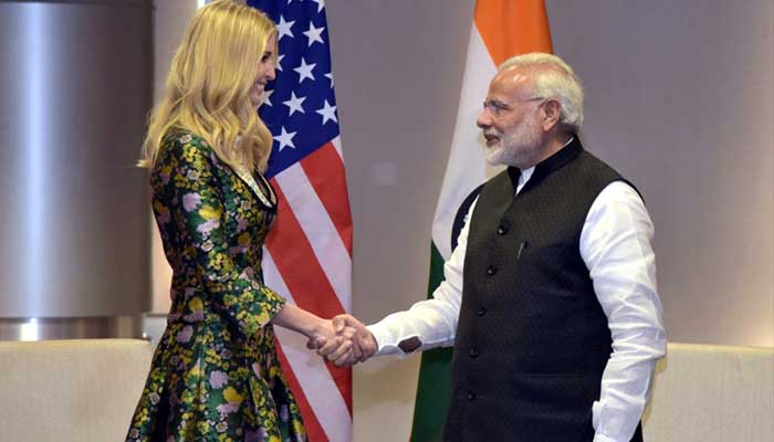 The rise of Modi from tea seller to PM is exemplary: Ivanka Trump