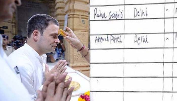 Rahul signed only visitors book: Somnath temple trust official