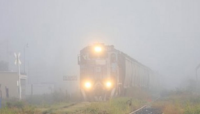 Misty Tuesday morning in Delhi, 18 trains cancelled