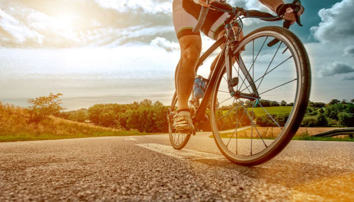 Cycling regularly may help to reduce stress, anxiety