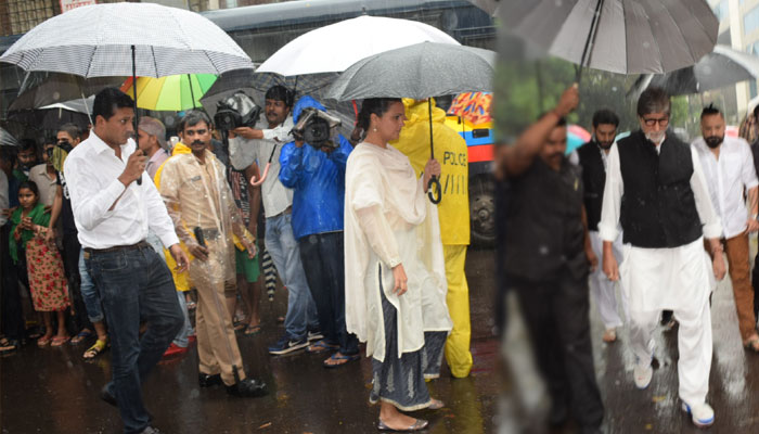 Actors arrive to attend the funeral of Shashi Kapoor in Mumbai