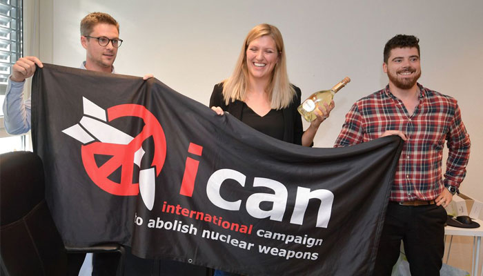 Anti-nuclear weapon campaigner ICAN receives 2017 Nobel Peace Prize