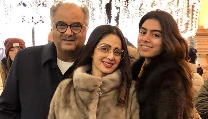 Sridevi enjoying work-cum-vacation with family in Moscow