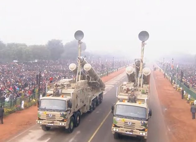 Brahmos Missile System of 881 Missile Regiment. It is the only Super Sonic Cruise Missile presently available in the world