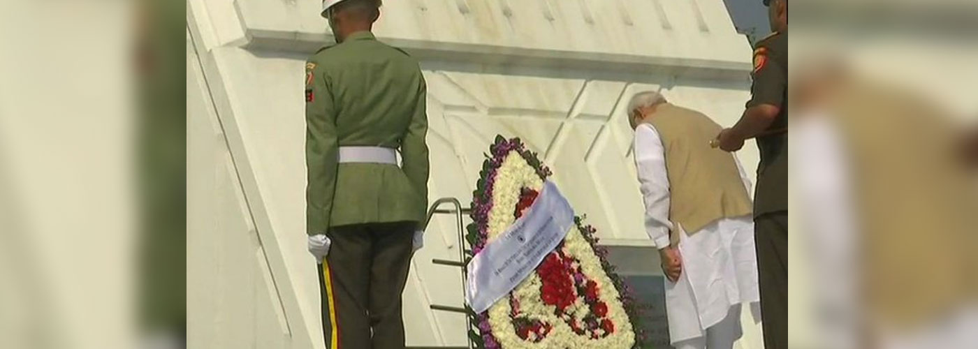 PM Modi lays wreath at Indonesian martyrs cemetery
