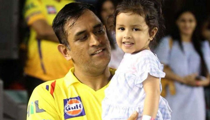 Ziva had her own special way of celebrating Dhonis victory