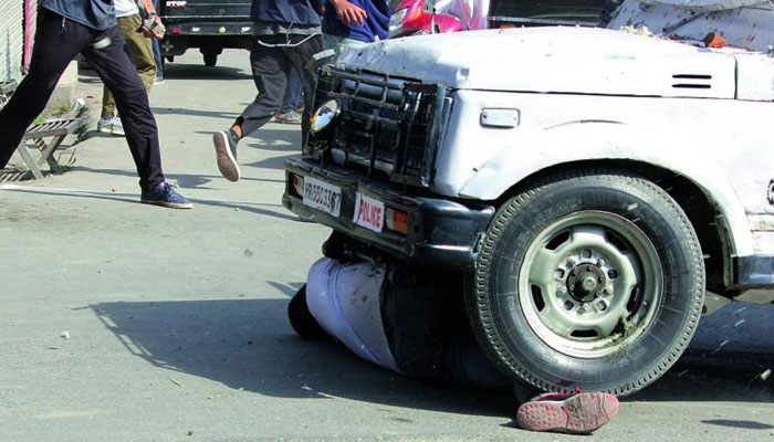 Srinagar youth run over by CRPF vehicle succumbs to injuries