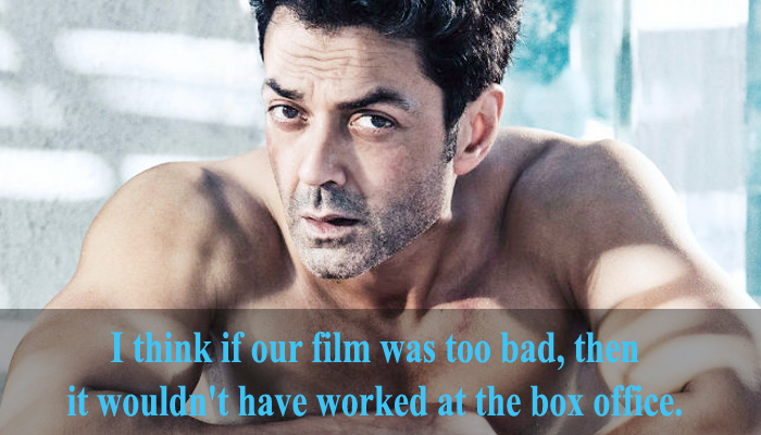 This is what Bobby Deol said about Race 3