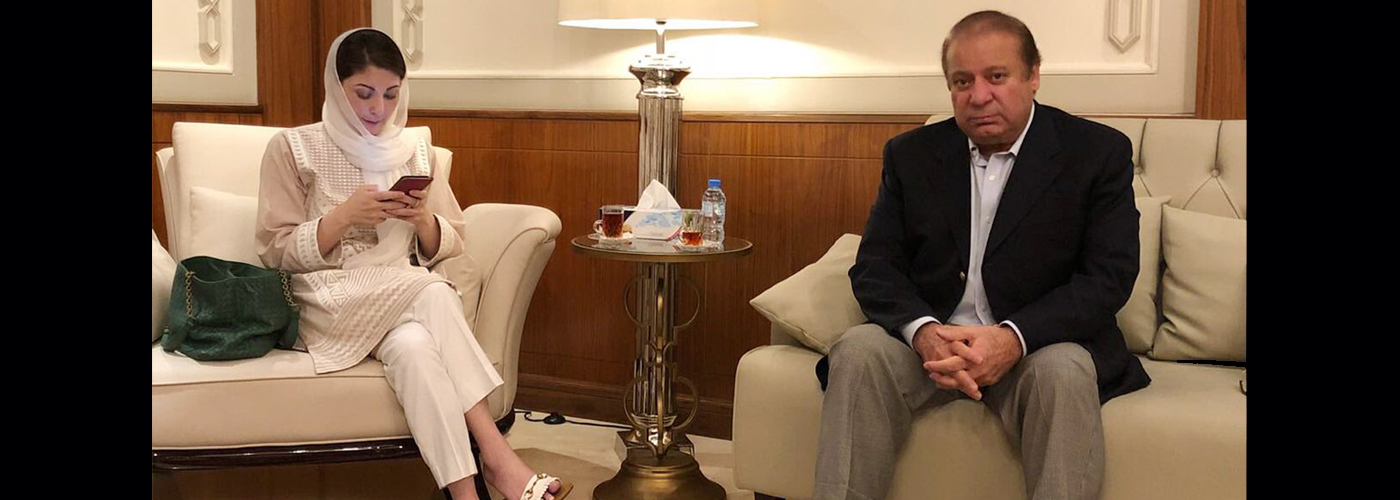 Nawaz Sharif, daughter Maryam on their way to Pak; to face arrest