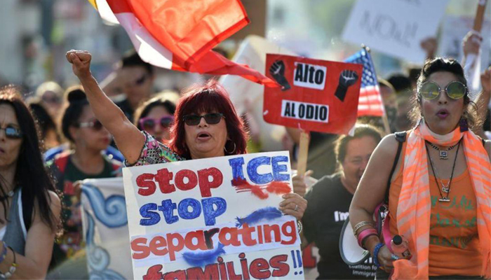 Thousands protest across US against Trumps immigration policies