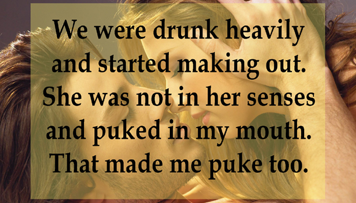 Drunk couples and their worst kissing experiences