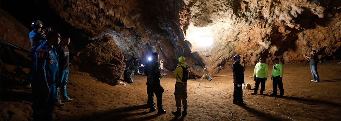 Thai boys trapped in cave located, may remain stuck for months