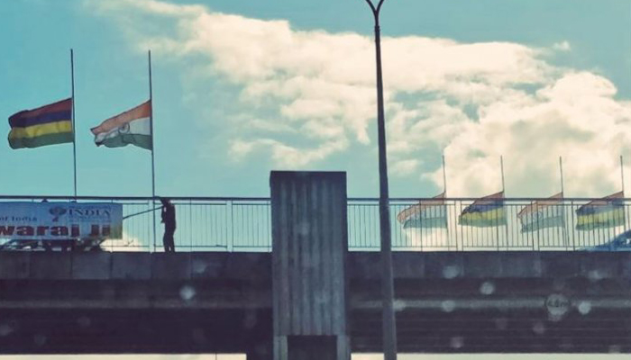 Flags in Mauritius at half mast in Vajpayees honour