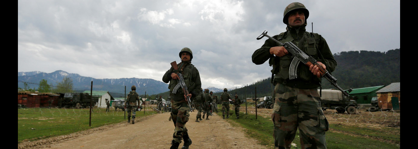 Two militants killed, two security men injured in Kashmir