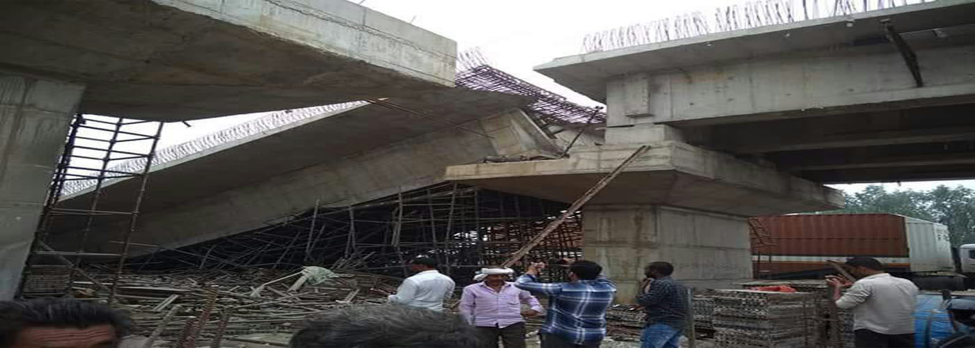 Under-construction flyover bridge collapses in UP; 4 injured
