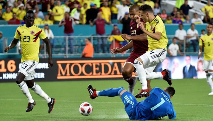 Colombia defeat Venezuela 2-1 in its first FIFA friendly since coach quit