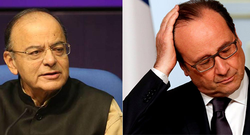 Jaitley refutes Hollandes claims, says Truth cant have two versions