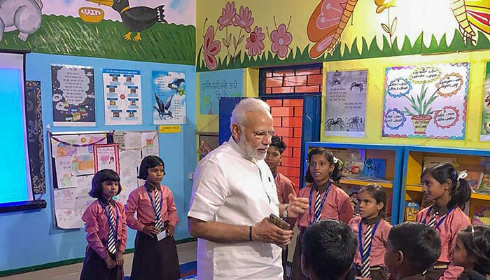 Pictures from Prime Minister Narendra Modis 68th birthday celebration
