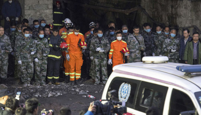 22 miners trapped in China coal mine accident