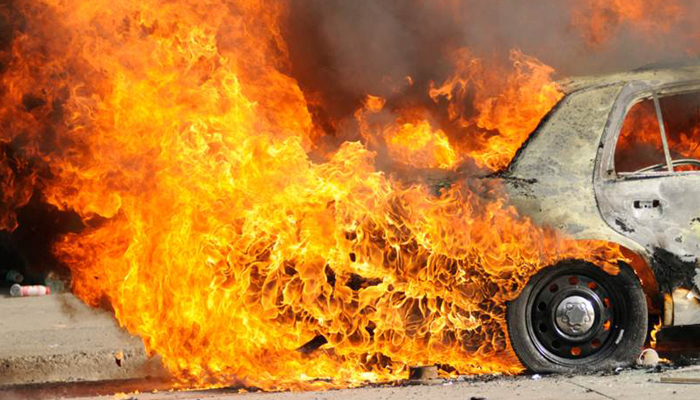 Dozens vehicles torched in Jharkhand clashes, ten arrested