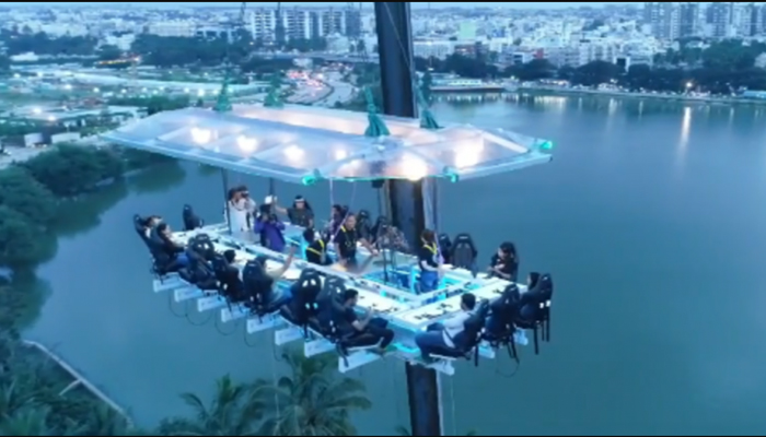 Indias first Fly Dining Restaurant dangles160 fts high   Check