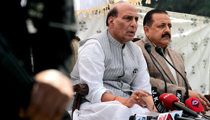 Kashmir is ours, no power can snatch it from us: Rajnath